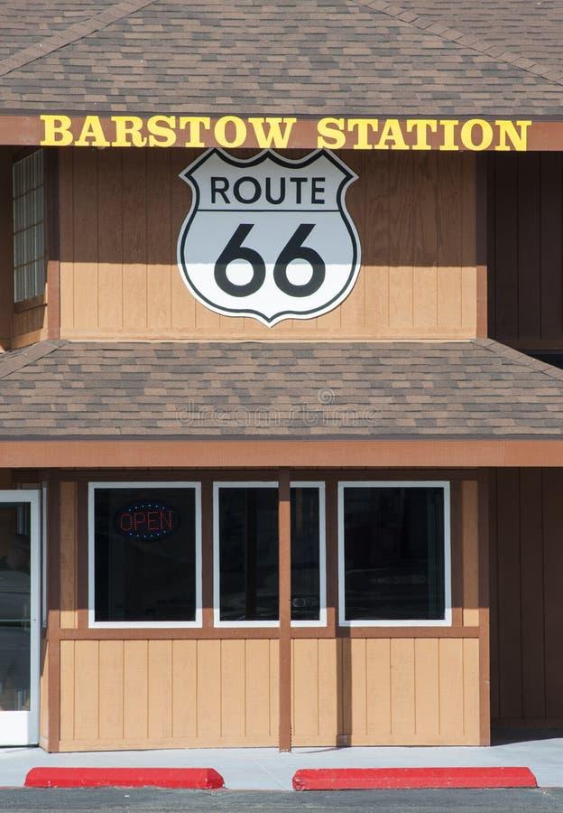 Rota 66 da estação de Barstow imagem de stock royalty free