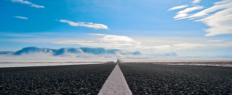Rota da estrada em Sibéria fotografia de stock royalty free