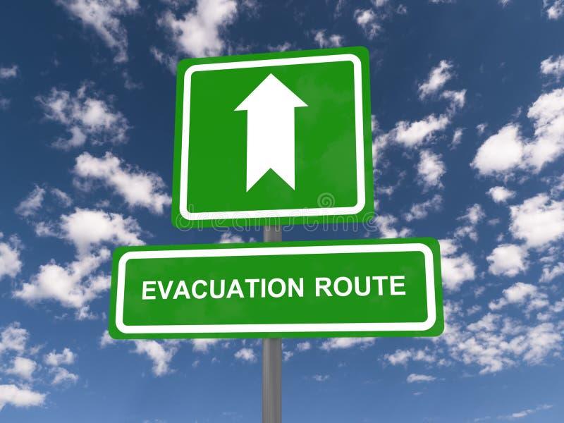 Rota da evacuação foto de stock
