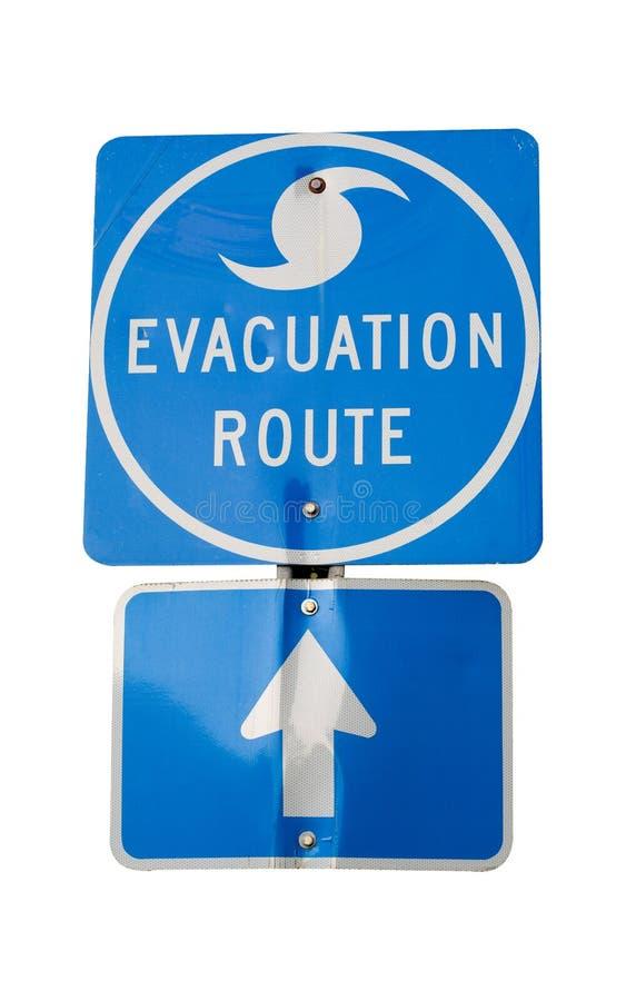 Rota da evacuação do furacão fotografia de stock royalty free