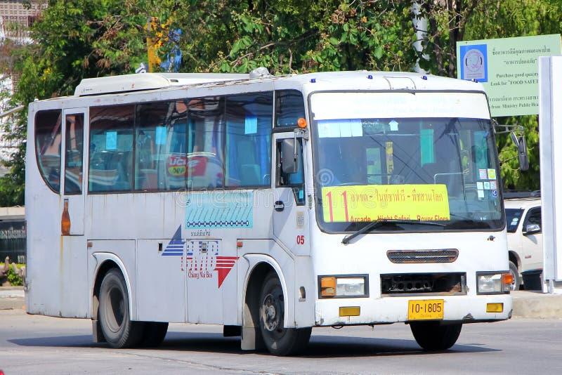 Rota de ônibus 11 do ônibus da cidade de Chiangmai imagens de stock