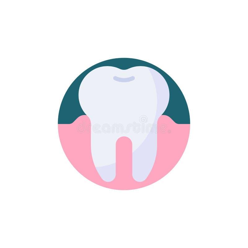 Rota den plana symbolen för tanden stock illustrationer