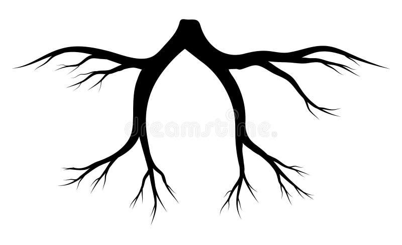 Rota designen för symbolen för konturvektorsymbolet royaltyfri illustrationer