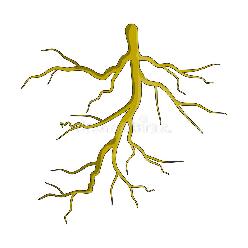 Rota designen för symbolen för symbolet för växttecknad filmvektorn Härlig illustr vektor illustrationer