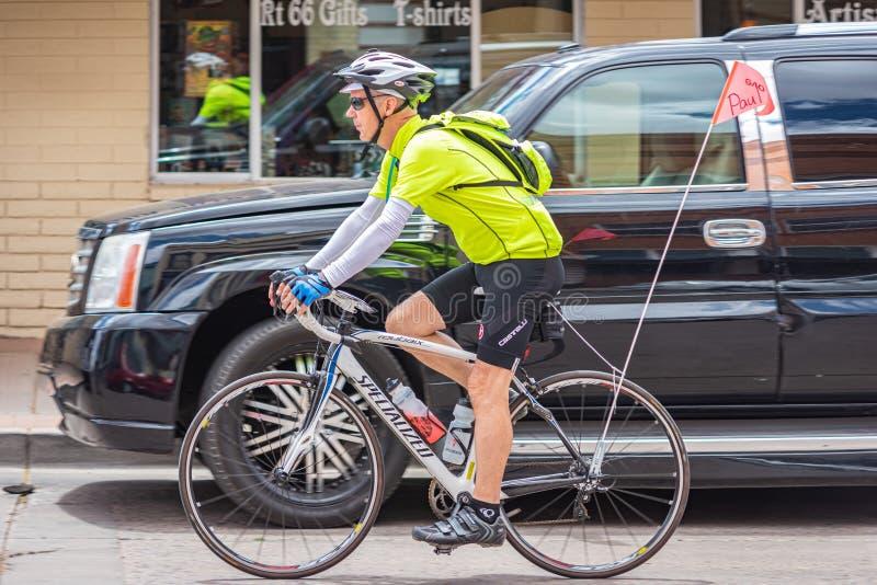 Rota 66 do ciclista imagens de stock