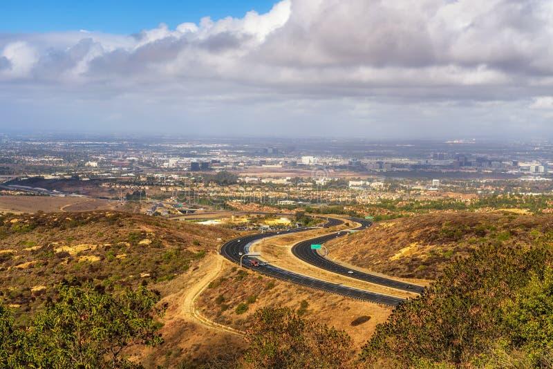 Rota 73 do estado de Califórnia vista da vista Ridge Park imagem de stock royalty free