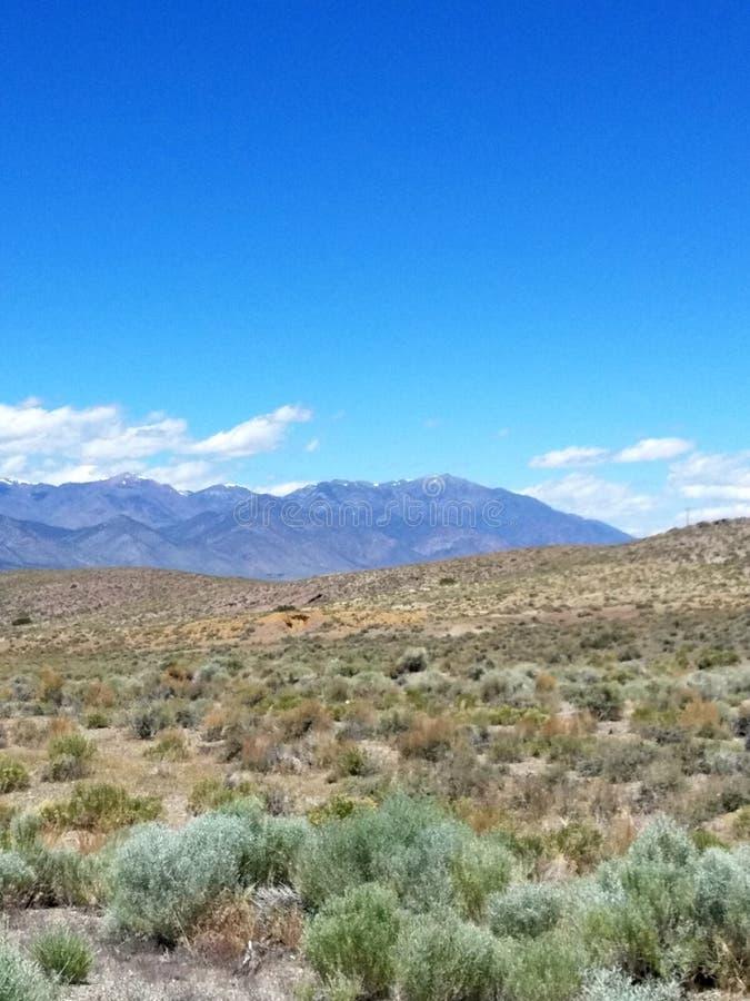 Rota 376 do estado entre Manhattan e Tonopah, Nevada fotos de stock