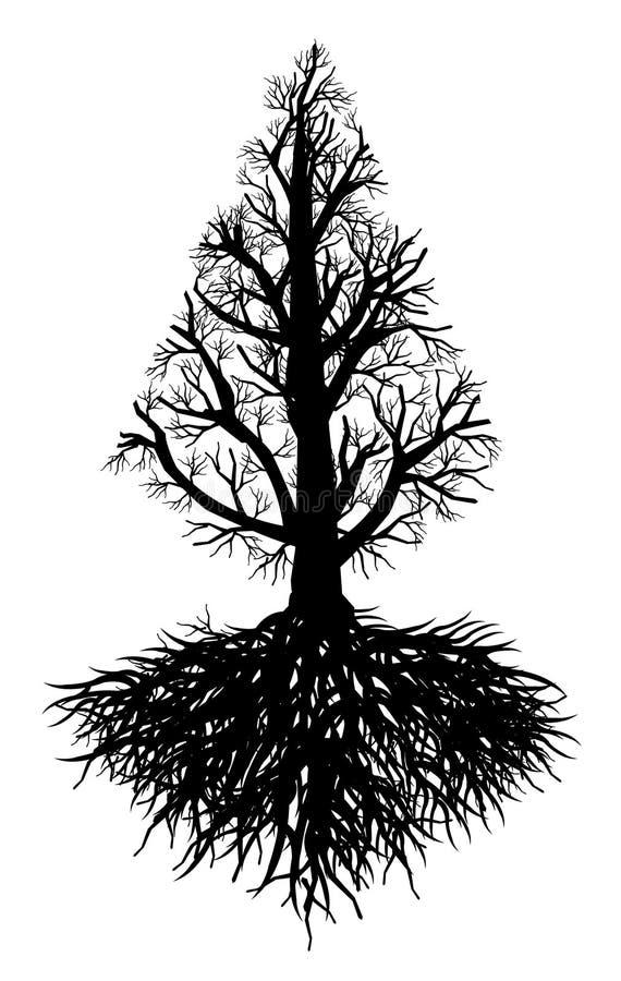 rota treen royaltyfri illustrationer