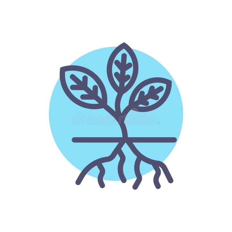 Rota vektorväxtsymbolen mono vektorteckensymboler Perfekt PIXELsymboler eller illustration för website eller mobila apps royaltyfri illustrationer