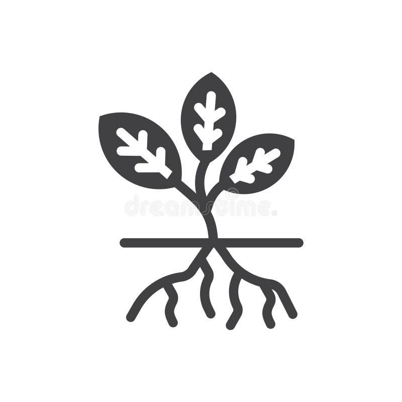 Rota vektorv?xtsymbolen mono vektorteckensymboler Perfekt PIXELsymboler eller illustration f?r website eller mobila apps royaltyfri illustrationer