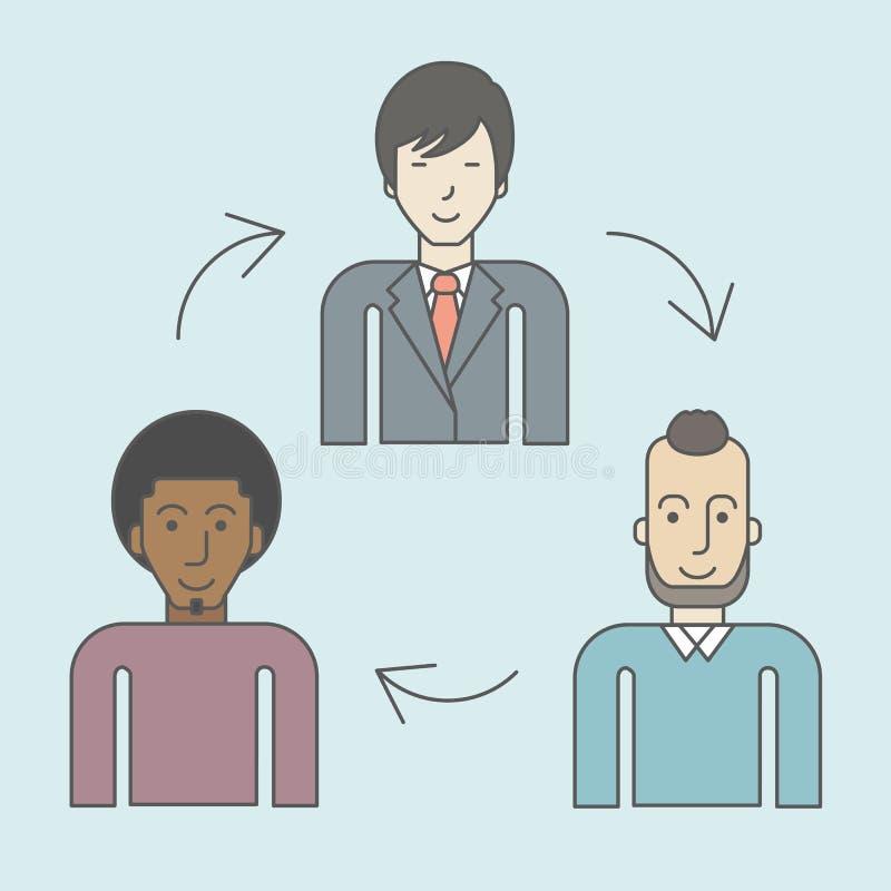 Rotación de personal stock de ilustración