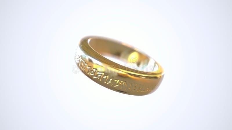 Rotación del anillo de oro metrajes
