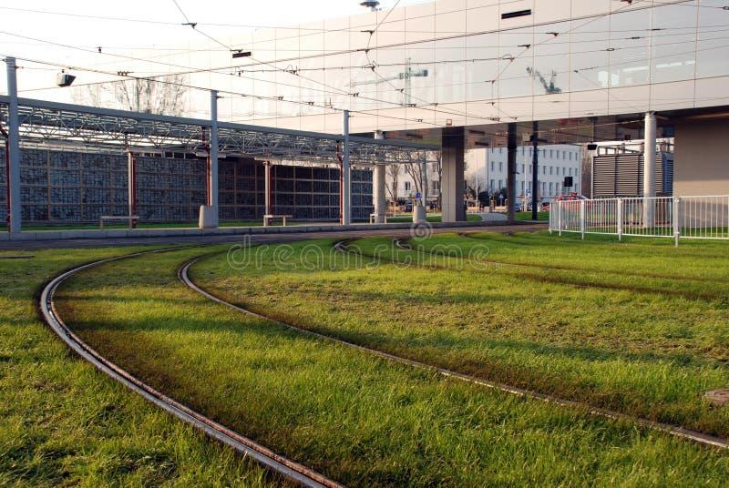 Rotaie su erba verde immagine stock libera da diritti