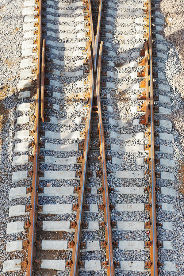 Rotaie sulla ferrovia immagini stock