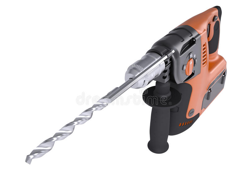 Download Rotary hammer stock illustration. Image of perforator - 33950431