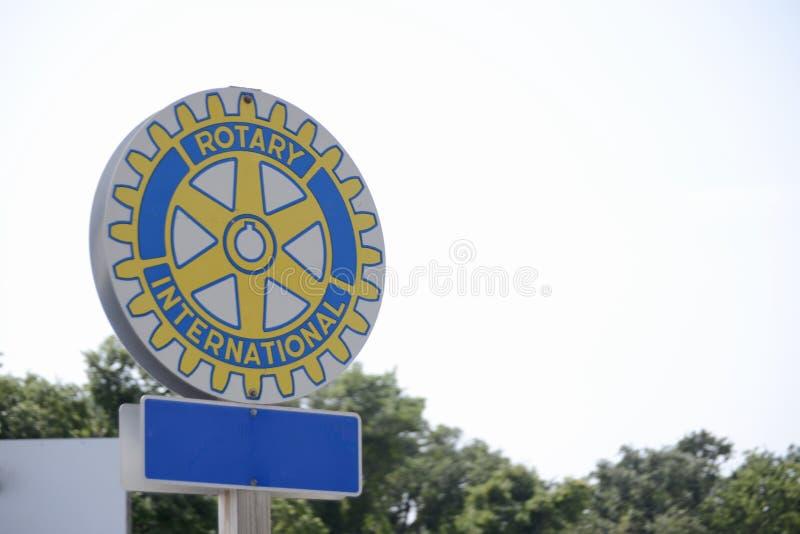 Rotary International klubba fotografering för bildbyråer
