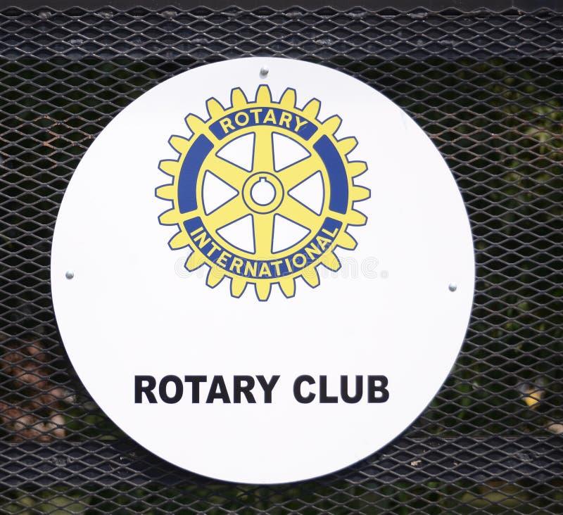Rotary International klubbalogo royaltyfria foton