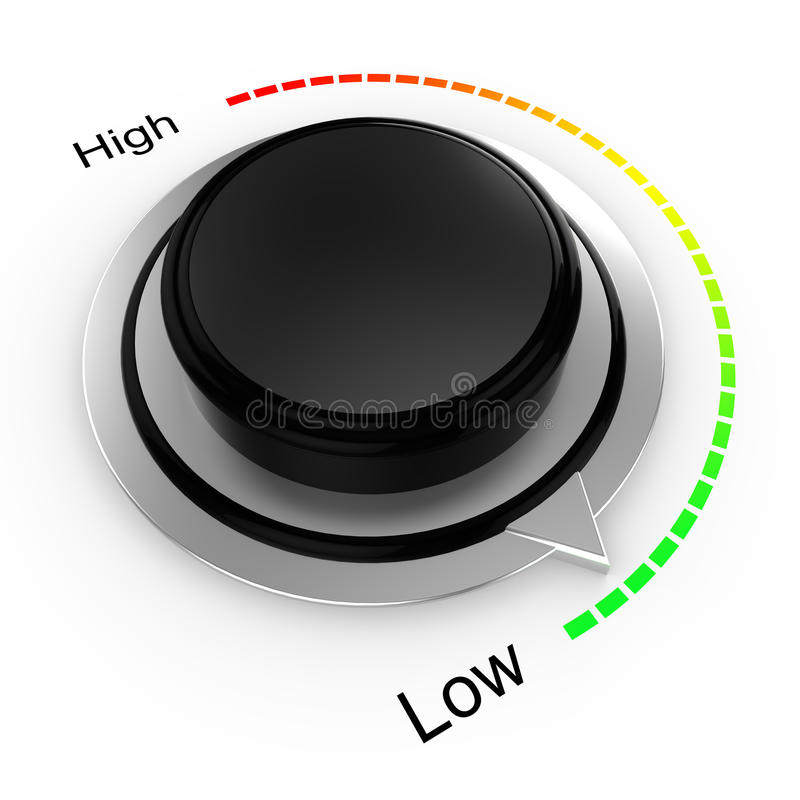 Free Rotary Knob From High To Low Royalty Free Stock Photography - 77686707