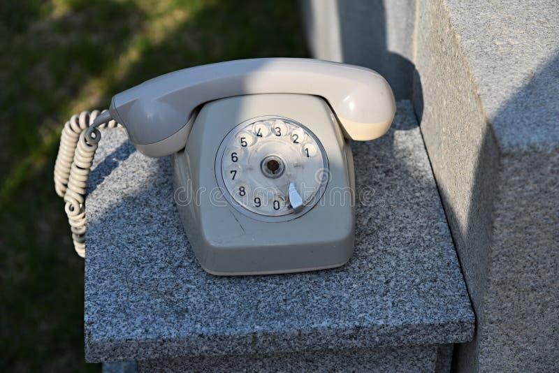 Rotary phone. North Korea stock images