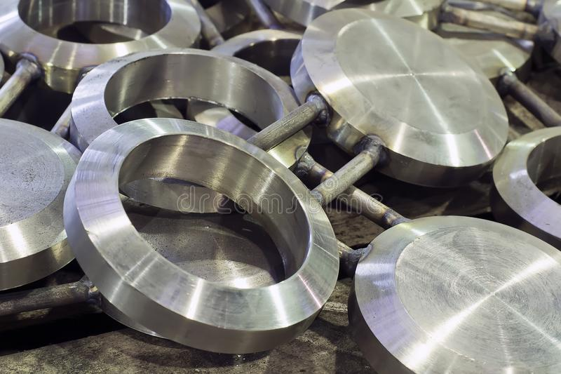 Rotary plugs, pipeline fittings stock images