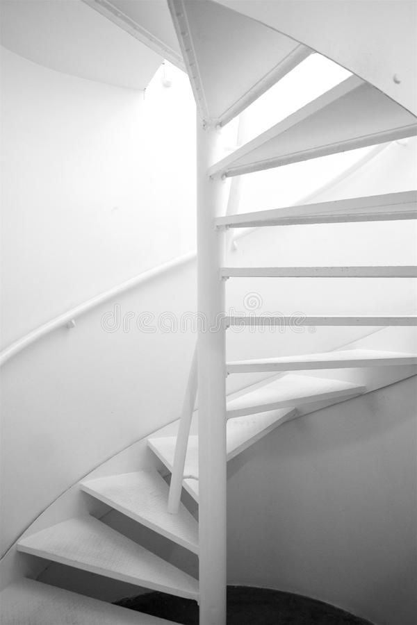 Rotate stairs black and white photo. Architecture detail stock images