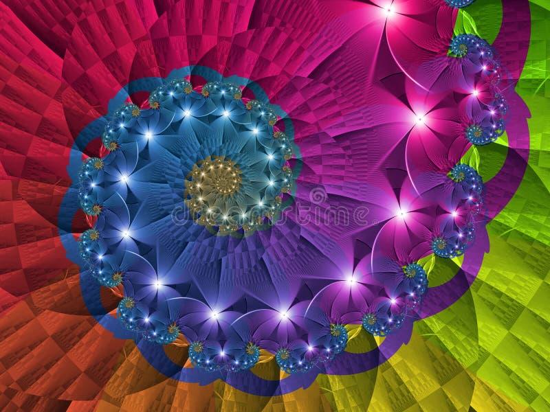 Rotating Rainbow Vortex vector illustration