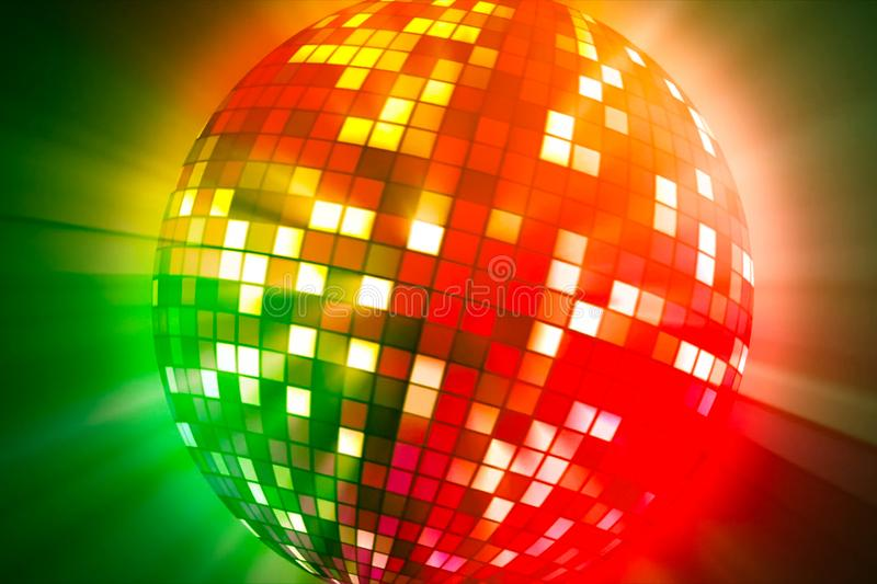Rotating strobe. A colored glowing ball stock images