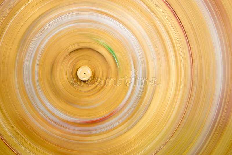 Rotating wooden plate stock image