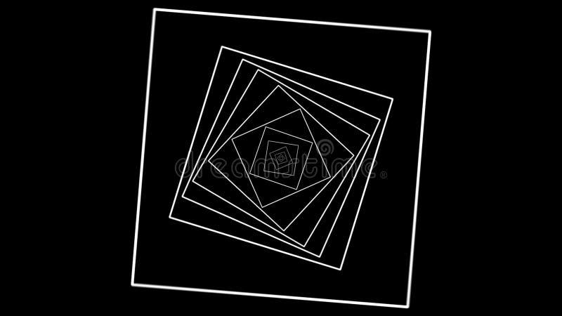 Rotation abstraite d'animation de la forme Rendu abstrait d'ordinateur illustration libre de droits