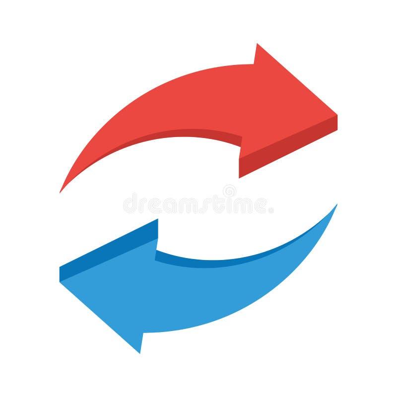 Rotation arrows icon stock illustration