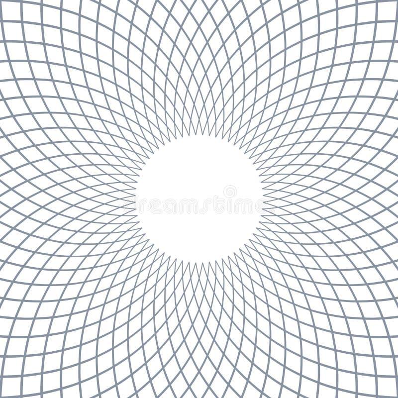 Rotation circular lines pattern. Abstract rotation circular lines pattern. Vector art royalty free illustration