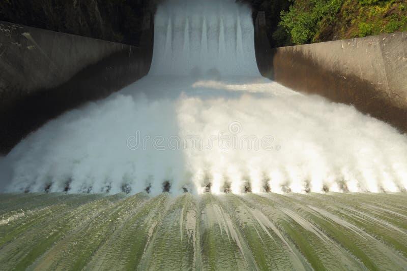 Rotation de barrage, l'eau d'hurlement photographie stock
