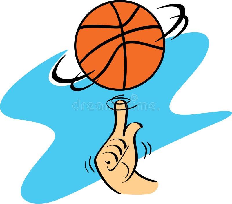 Rotation de basket-ball illustration de vecteur