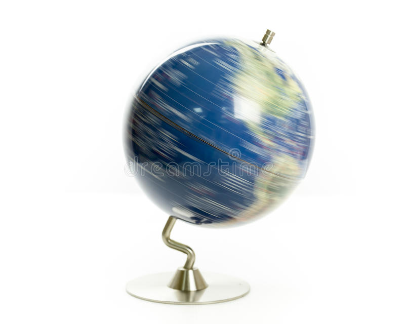 Rotation de globe du monde image stock