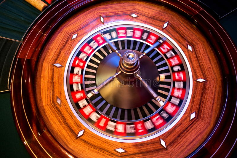 Rotation de roulette images stock