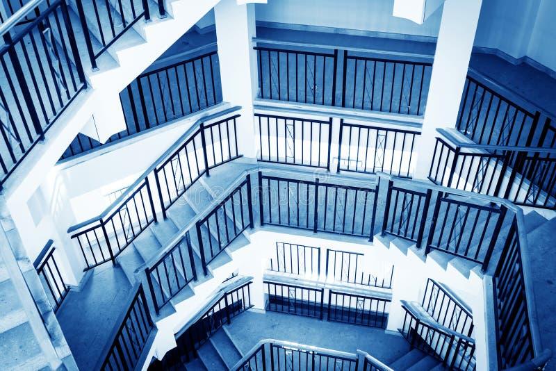 Rotation der Treppe stockfoto