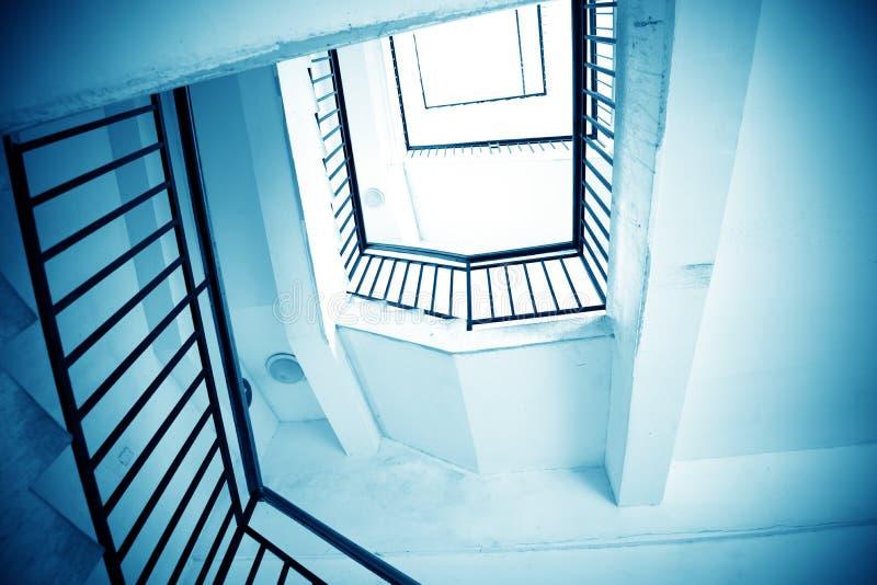 Rotation der Treppe stockbild
