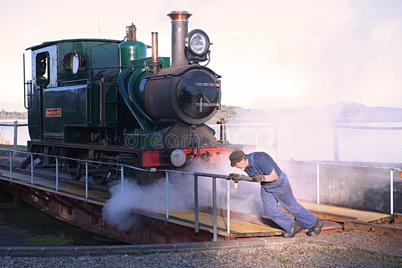 Rotation du train Strahan Tasmanie de vapeur image stock