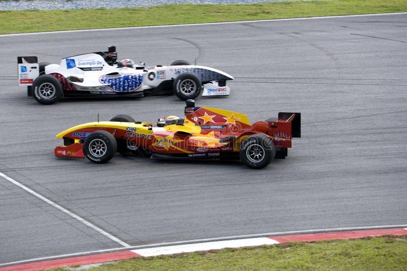 rotation för race för a1gp-uppgiftsbil undvika royaltyfria bilder