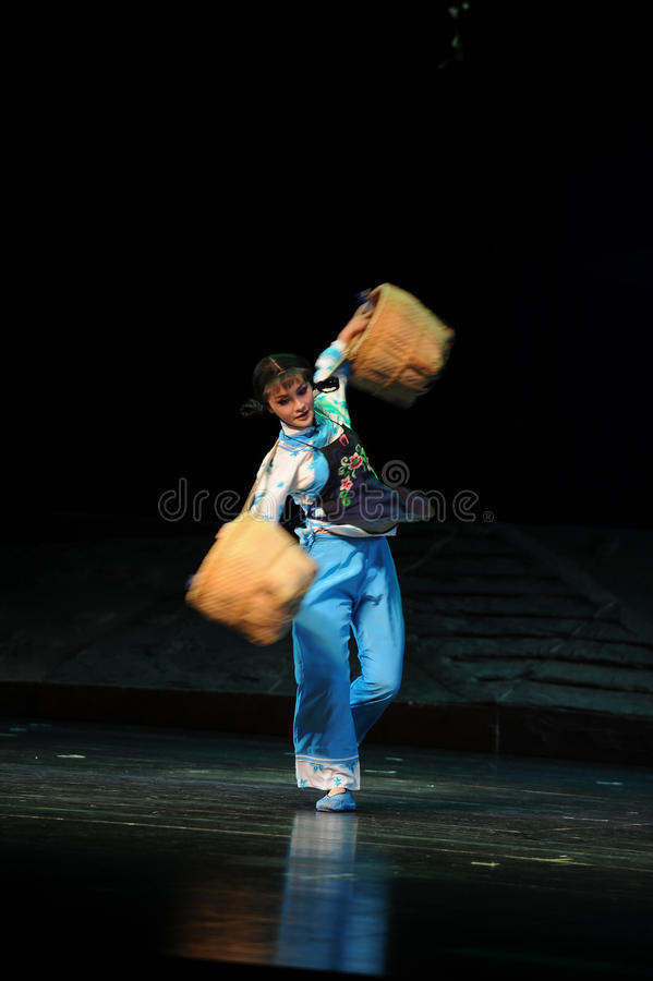 Rotation- Jiangxi opera a steelyard. Jiangxi opera a steelyard is adapted from a true story: the last century fortys, the protagonists father runs an oil mill in royalty free stock images