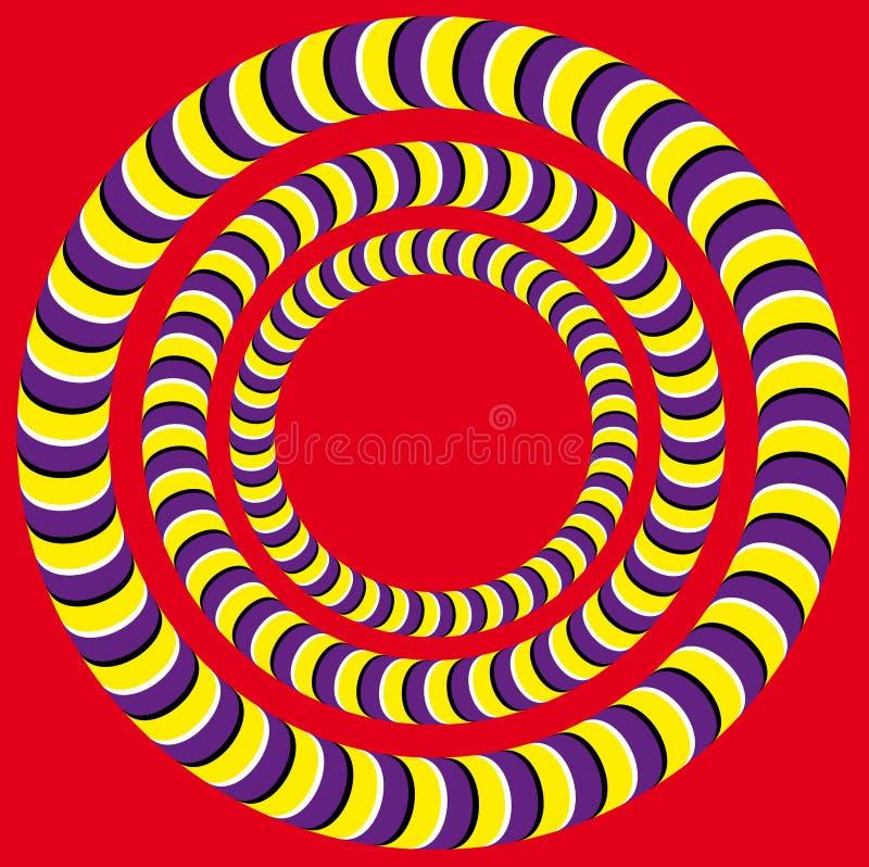 Rotation (Optical illusion) stock illustration