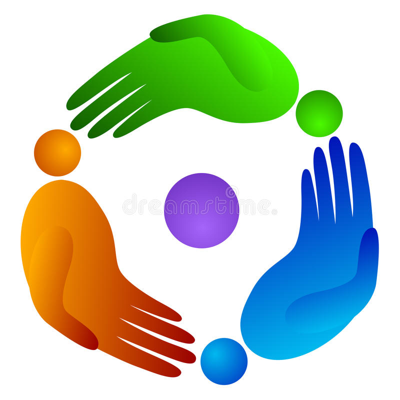 Rotation people hand royalty free illustration