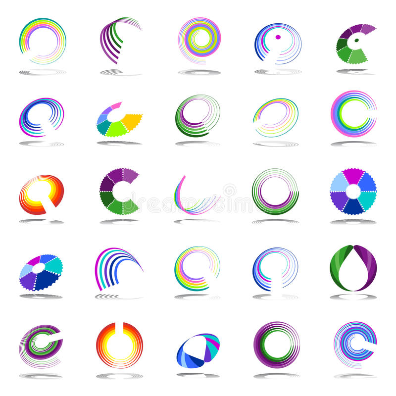 Rotation And Spiral Design Elements. Stock Vector