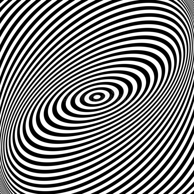 Rotation torsion movement illusion. Lines texture. Vector art royalty free illustration