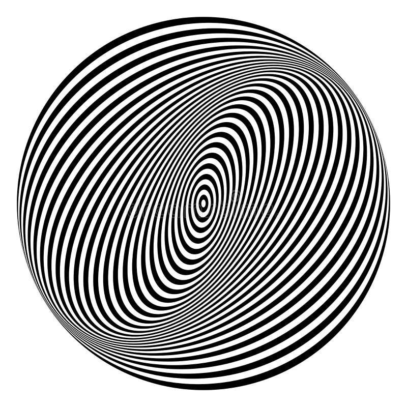 Rotation torsion circle design element. royalty free illustration