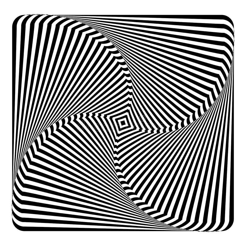 Rotation torsion movement illusion. vector illustration