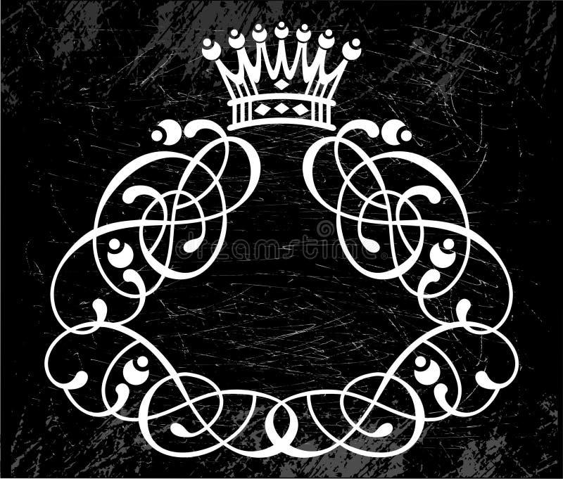 Rotationen auf Schwarzem mit Krone lizenzfreie abbildung