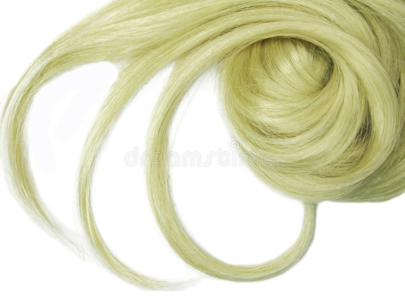 Rotationen des blonden Haares lizenzfreie stockbilder