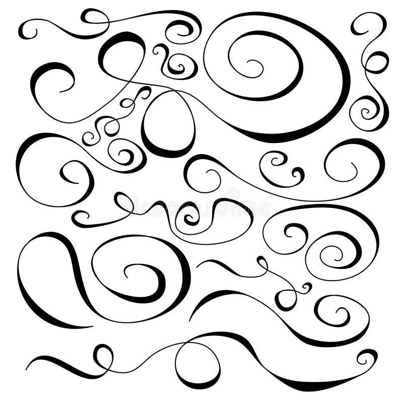 Rotationen und Kurven stock abbildung