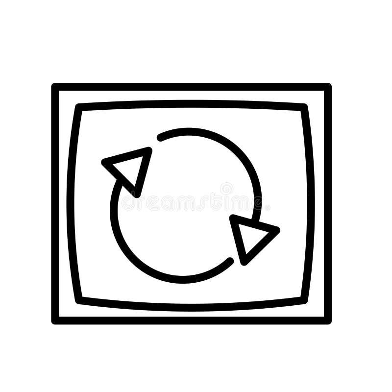 Rotationssymbolsvektor som isoleras på vit bakgrund, rotationstecknet, linjen eller det linjära tecknet, beståndsdeldesign i över royaltyfri illustrationer